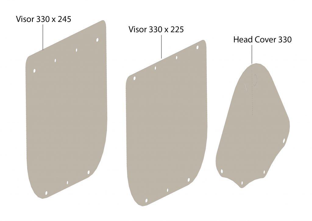 CoVisor open source face shield (visor)